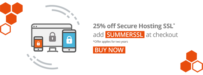 25% off 2 years of Secure Hosting SSL.