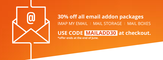 30% off all email addon packages.