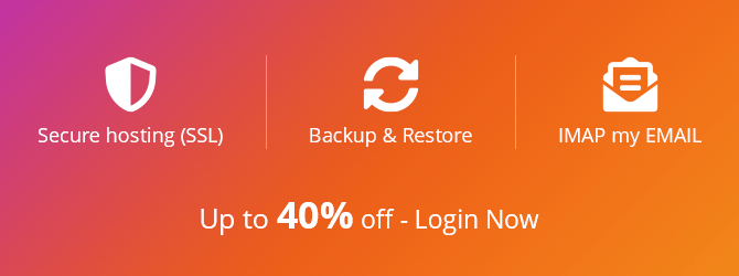 Up to 40% off SSL, Backup & Restore, IMAP my EMAIL.