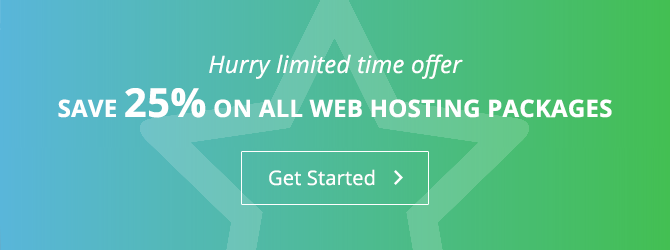25% off all hosting packages.