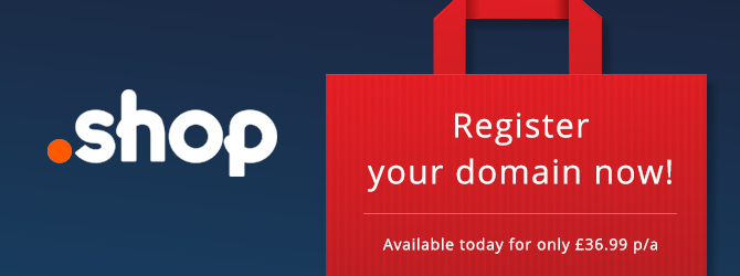 pre-order .shop domains now