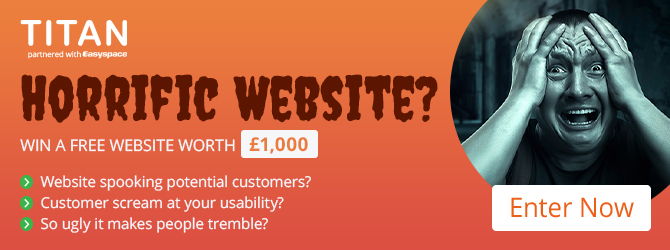 Win a free website worth £1,000.