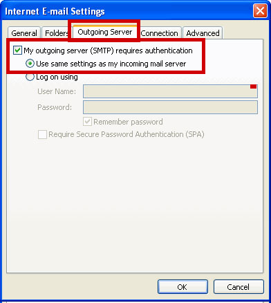 how to change outlook 2003 to imap