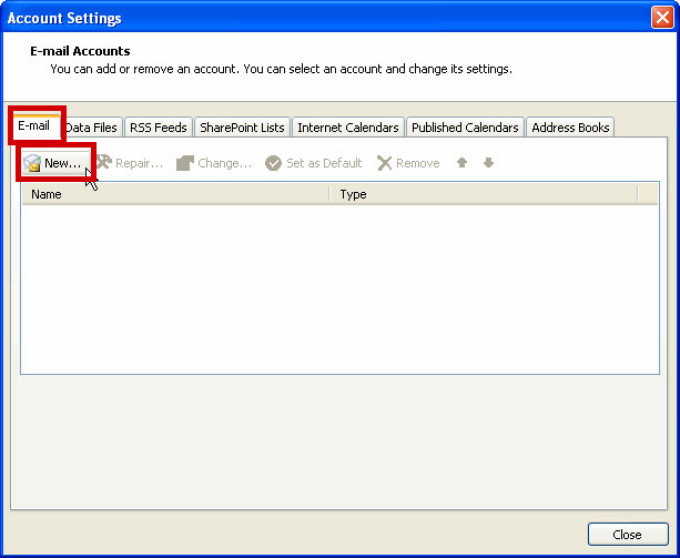 Imap - Support Services - Outlook 2007 Email Setup Guide