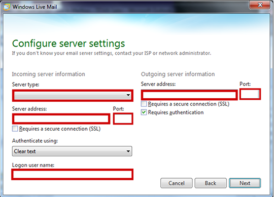 Imap - Support Services - Windows Live Mail Email Setup Guide